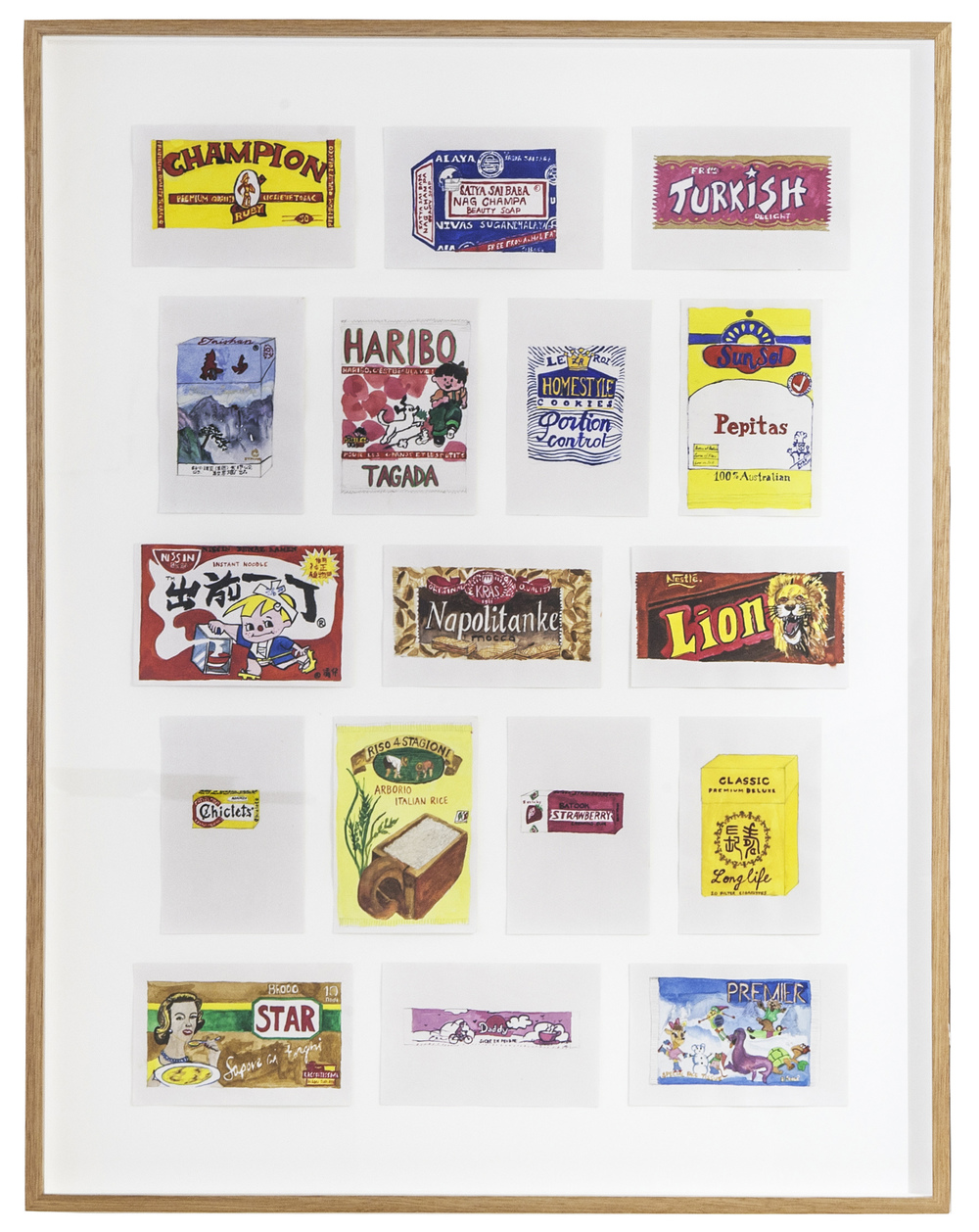 Sarah Goffman, Packaging Copies, 2006 in JANIS II, 2013, Mclemoi Gallery, Sydney (photo: Jessica Maurer)