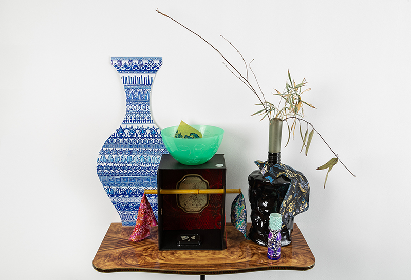 Sarah Goffman, Ikebana Table, 2018, Considering pattern in the works of Sarah Goffman and Raafat Ishak, True Estate Gallery, Melbourne