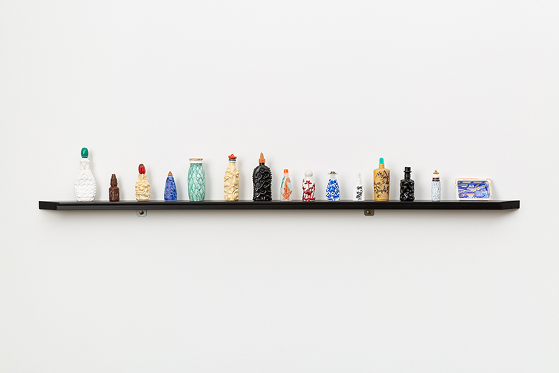 Sarah Goffman, Small Oriental Bottles, 2018, Considering pattern in the works of Sarah Goffman and Raafat Ishak, True Estate Gallery, Melbourne