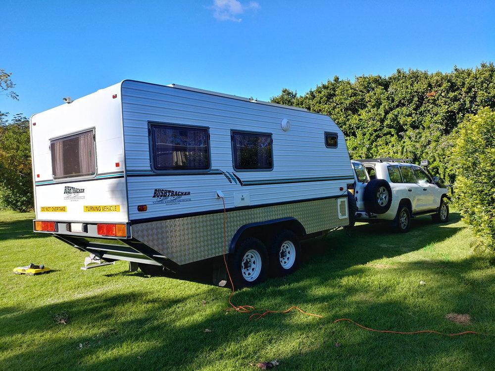 Bush Tracker caravan with DCS 12V batteries