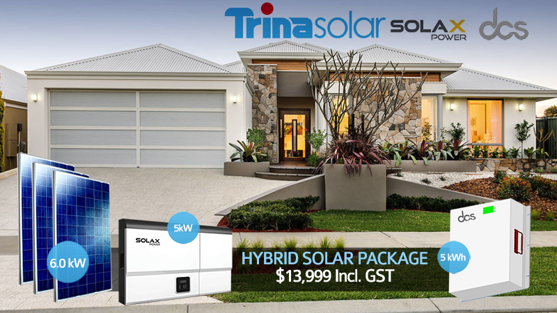 6kW Solar Hybrid System, 5kWh battery pack