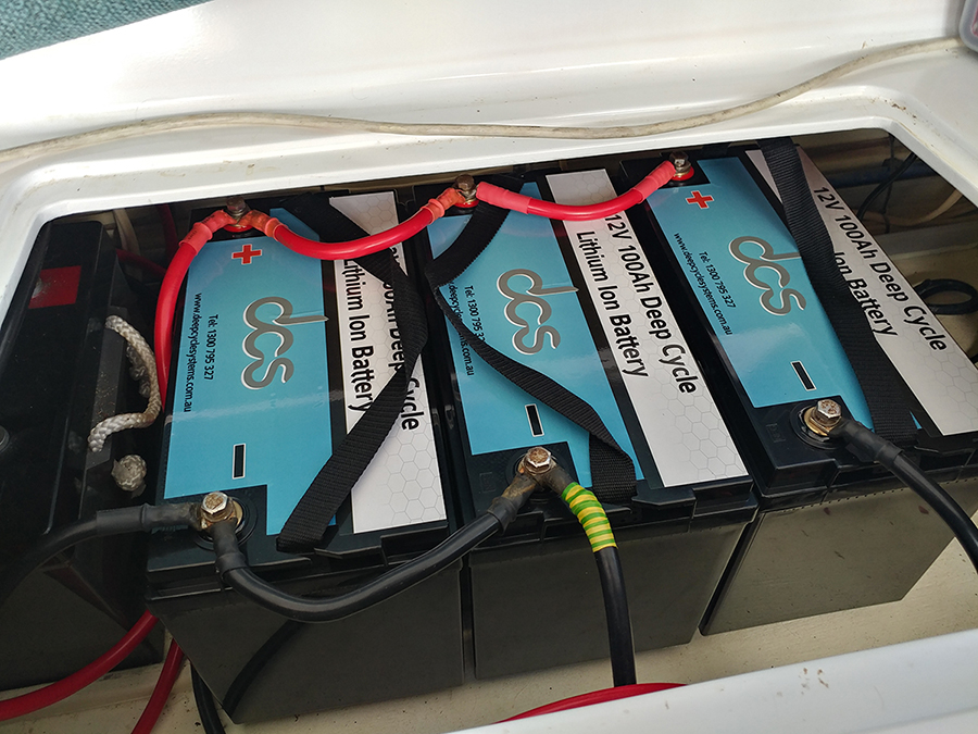 3 x DCS 12V 100Ah batteries