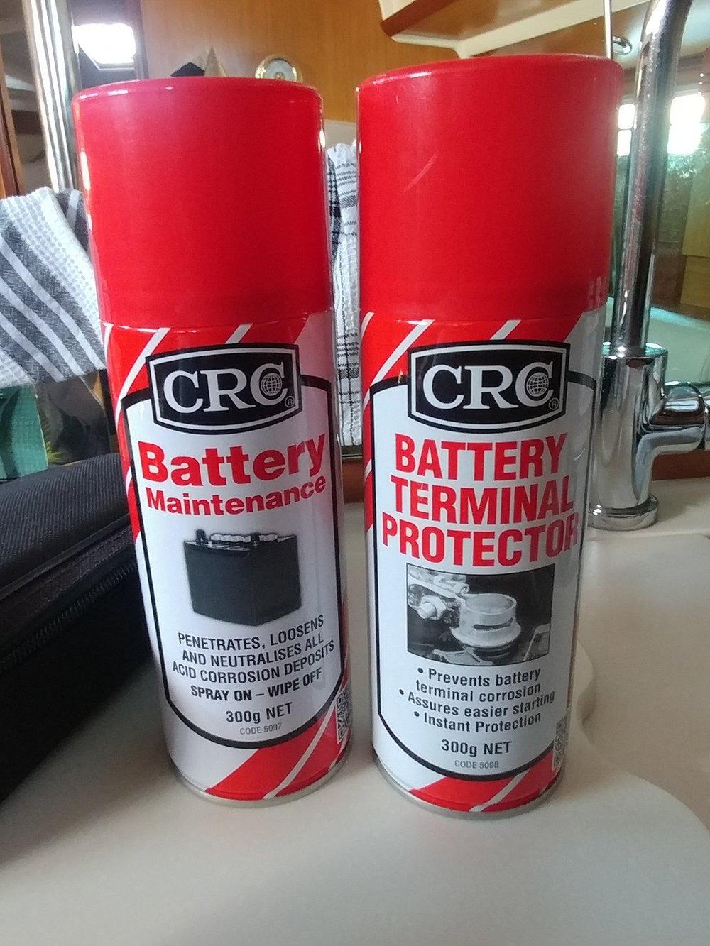 CRC Battery Maintenance spray, neutralises the acid corrosion.