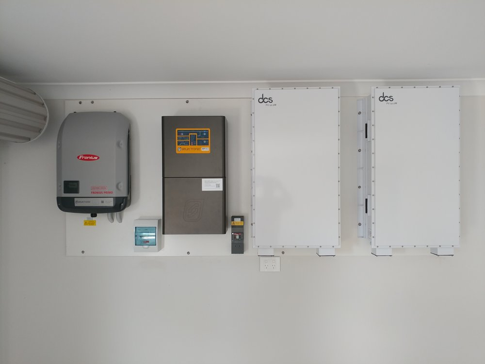 DCS PV series LFP batteries wall mounted
