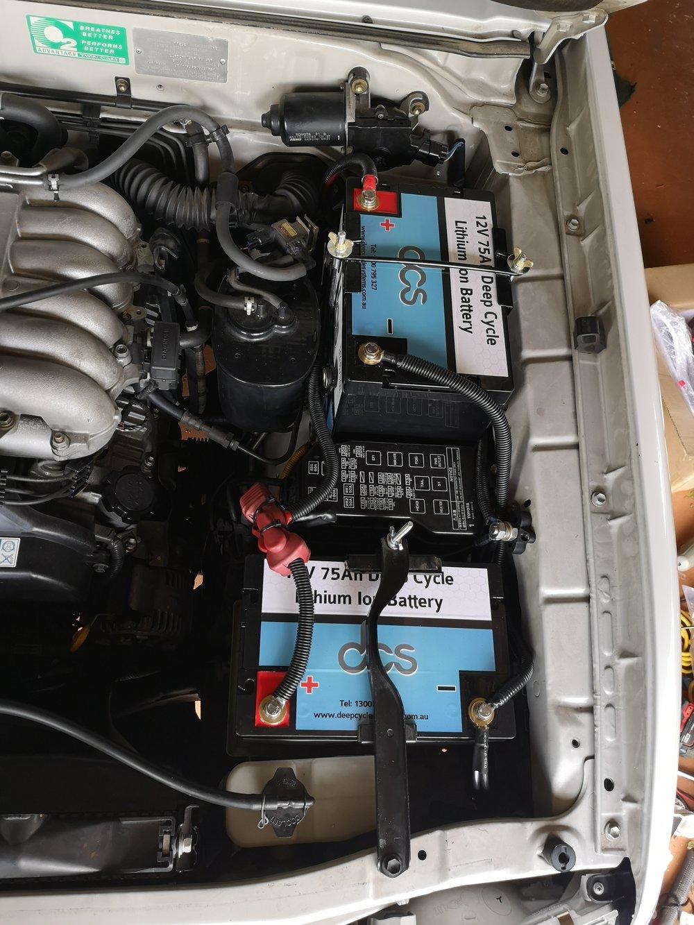 Prado 90 series - dual DCS lithium 75Ah batteries