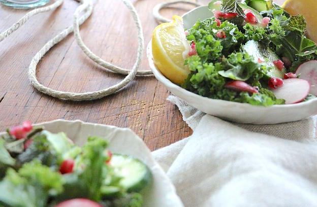Kale & Pomegranate Side Salad
