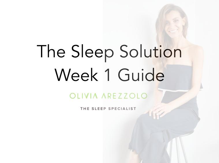 6 Week Sleep Solution Week 1