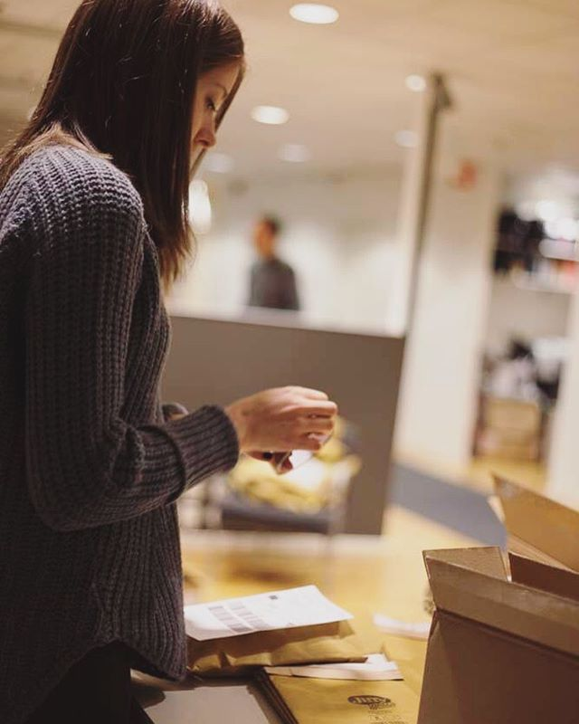 What our days consists with: packing, calling and sending of phones to different cities and villages all around Sweden. Last week we packed over 200 packages! #everyphonematters #refugeephones
