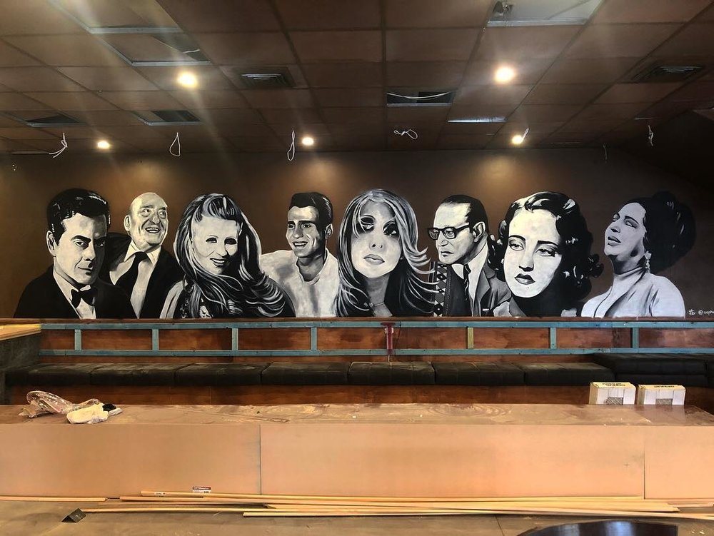 Mural for Mister Dee's Piano Bar, 2018