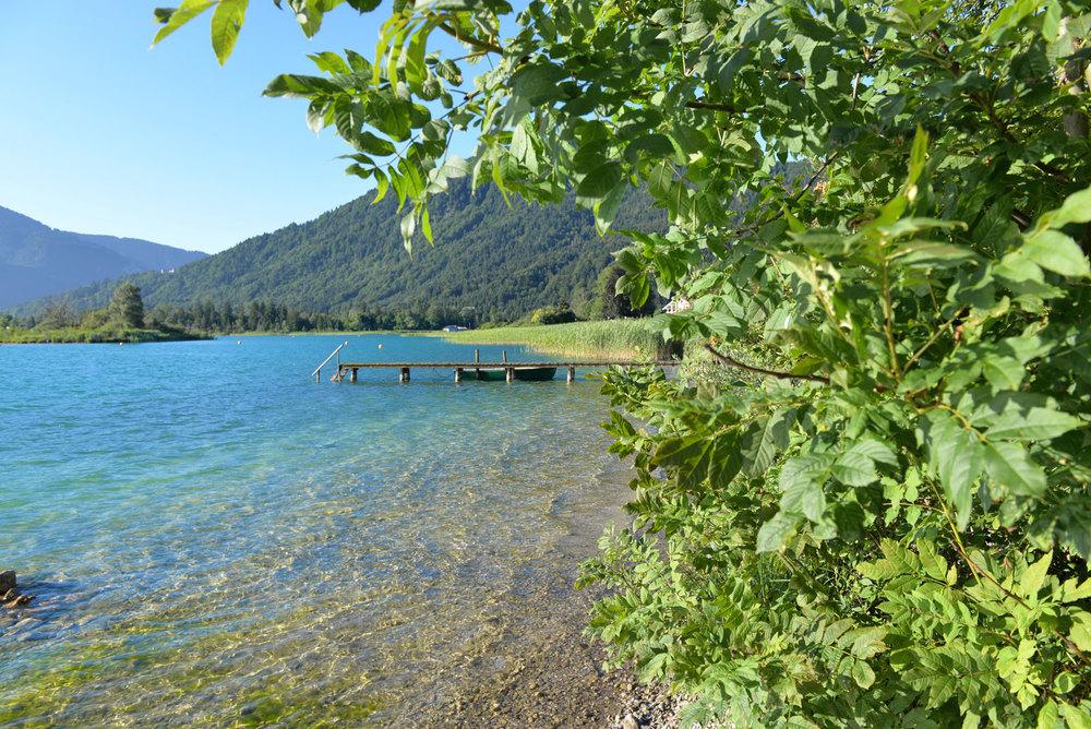 Uferidylle in Abwinkl in Oberbayern