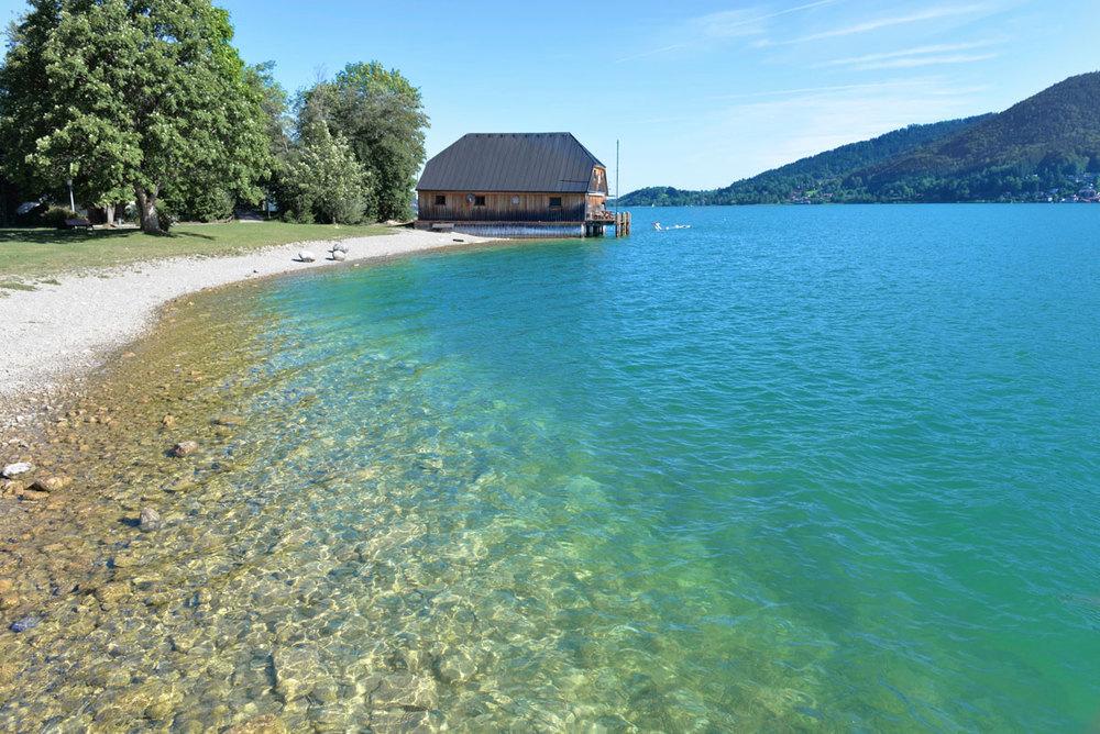 Uferidylle in Abwinkl am Tegernsee