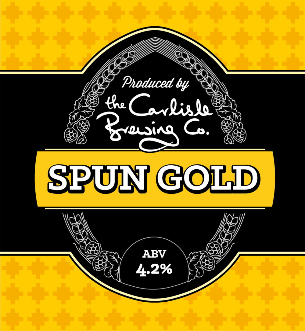 Solway CAMRA's Beer of the Year   It's the Maris Otter base combined with crystal malt (traditionally used in dark beers) that gives this brew its distinctive red gold colour and sweet taste. The hops follow on to build on the flavour and present you with a beautiful balanced finish. Spun Gold has just been awarded Beer of the Year by our local CAMRA branch.