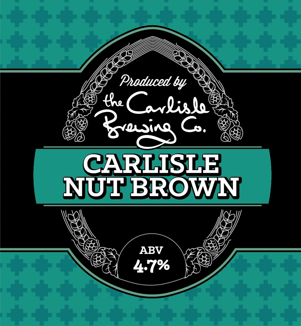 Nutty and fruity with the colour of chestnuts   If we say so ourselves, our Carlisle Nut Brown ale is quite simply awesome. We've combined 4 different malts to create a full-flavoured, rounded, nutty taste with the hops adding to the overall fruitiness. It's the colour of autumn chestnuts. It builds up a warm with a sweet nutty flavour, and the hops linger in your mouth. What more could you want?