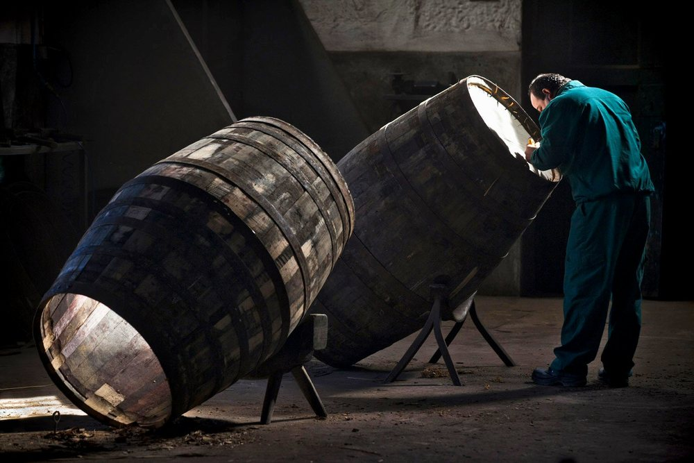 The Cooper's work is never done; Port casks being prepared for more interesting contents.