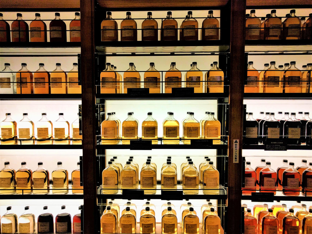 "A very small part of Suntory Yamazaki Distillery's ""Whisky Library"" Shimamoto-chō, Mishima-gun, Ōsaka-fu, Japan"