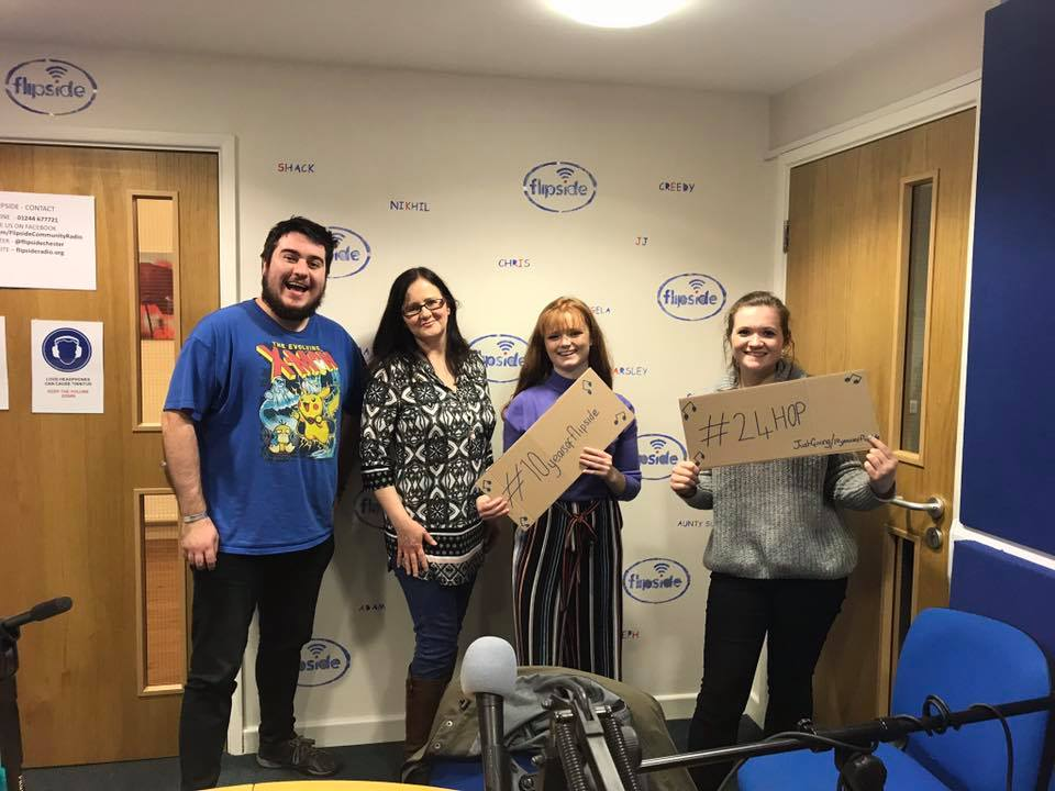 The We Are Chester team (James, Tori and Angela) with Isabella Crowther (Photo by We Are Chester)