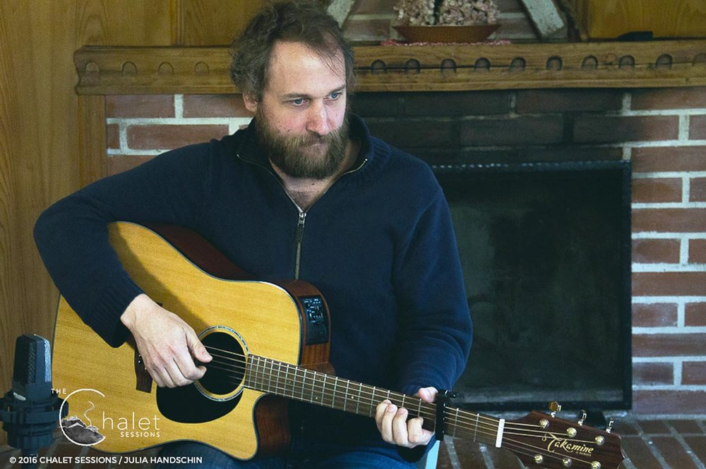 Craig Cardiff Session - Craig playing acoustic guitar