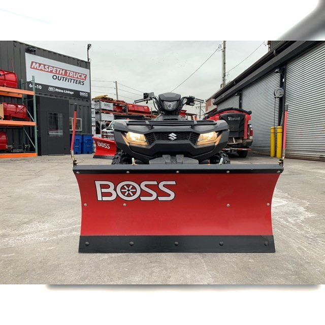 ❄️Don't have a truck? THATS OK! — BOSS makes plows for trucks, ATVs, UTVs, Loader/Backhoes, Skid-Steers & Tractors! 🌨This 2019, Suzuki King Quad 750 AXI is ready for any size storm! 🌬What are you waiting for? Call us today! ❄️