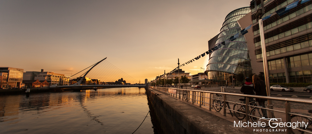 Dublin Docklands at Sunset