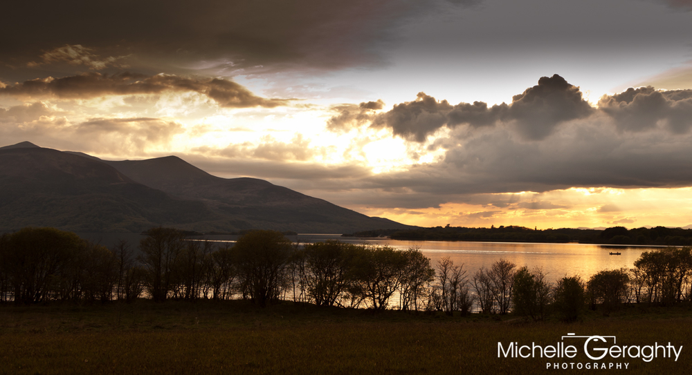 Sunset over Killarney Lakes, Co. Kerry, Ireland