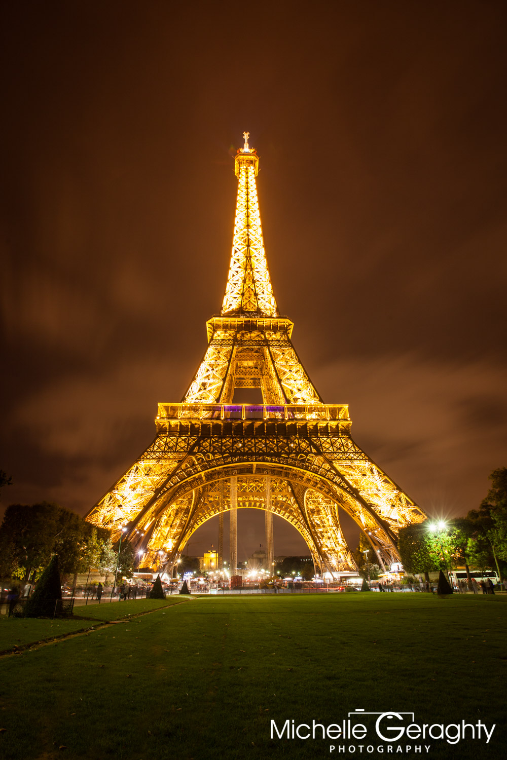 Eifel Tower by Night, Paris, France