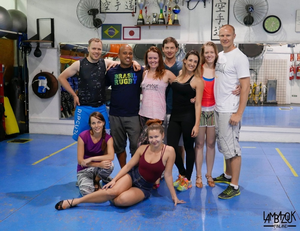 Juhana, Eeva, Ricardo, Noora, Soile, Sören, Nathalia, Sonja-Maria and Jaakko at our group training yesterday here in São Paulo!
