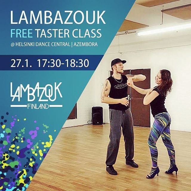 This Saturday it's open day at the brand new Helsinki Dance Central & Azembora. Come enjoy a FREE taster class of Lambazouk at 17:30-18:30!! The class is for beginners, so please do invite both your dancing and non-dancing friends to come give it a try 🤗💃 At 21:00 we'll continue the night at the big opening party -- there will some awesome surprises, stay tuned! ••• #lambazouk #lambazoukfinland #lambada #free #danceclass #dance #brazilianzouk #zouk  #socialdance #tanssi #ilmainen #tanssitunti #halvathuvit #Helsinki #HelsinkiDanceCentral #Azembora #openday #tervetuloa