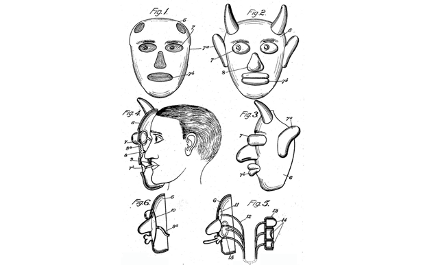 """Toy Mask"" patent illustration from 1906."