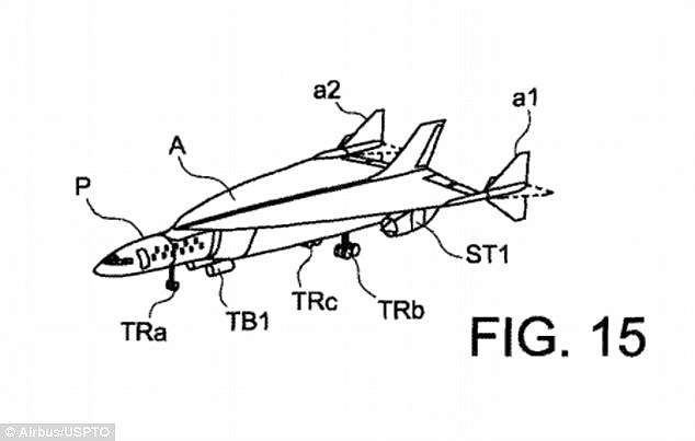 Patent illustration of the Skreemr Aircraft.