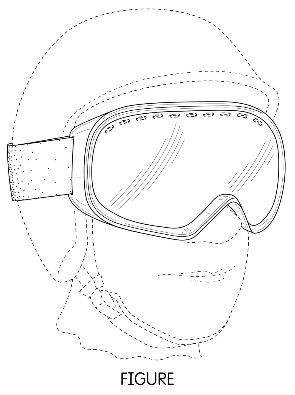 Sample Patent Illustration For Goggles.