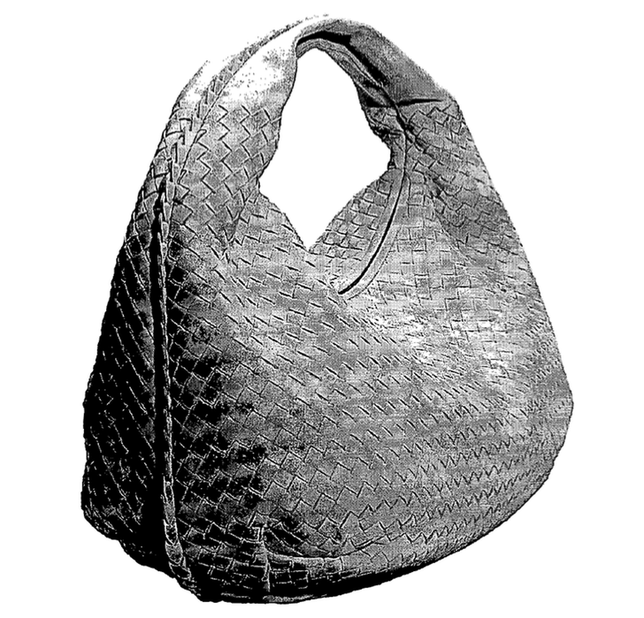 "Image from the patent for Bottega Veneta's ""Veneta"" handbag. (From: trademarkandcopyrightlawblog.com)"
