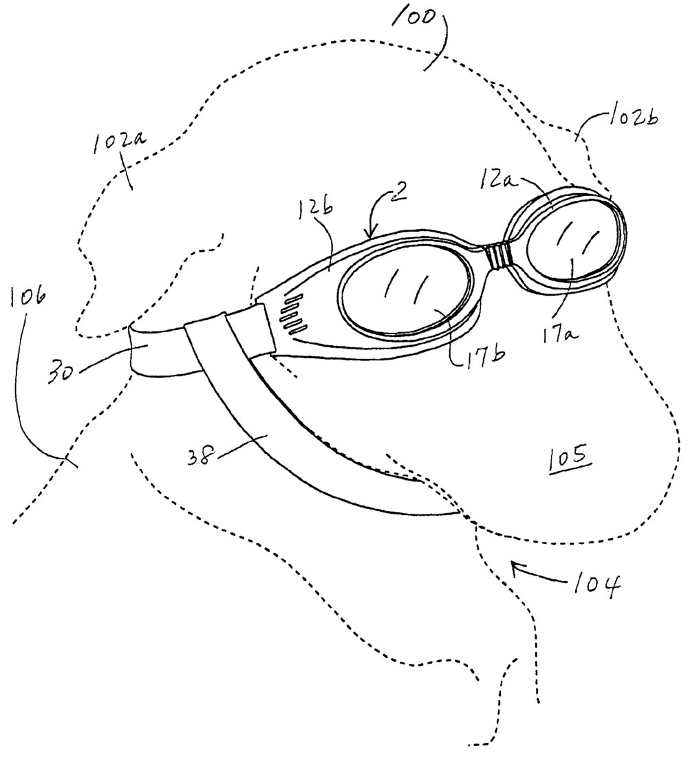 "Patent illustration for ""animal eyewear."""