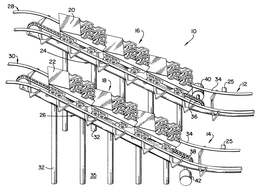 Roller Coaster Control System patent illustration from  patents.google.com