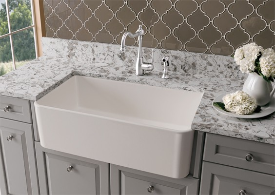 Celebrating earthy with fireclay sinks julie company fireclay sinks are renowned for being environmentally friendly beautiful and can make a dramatic statement in a variety of kitchen styles workwithnaturefo