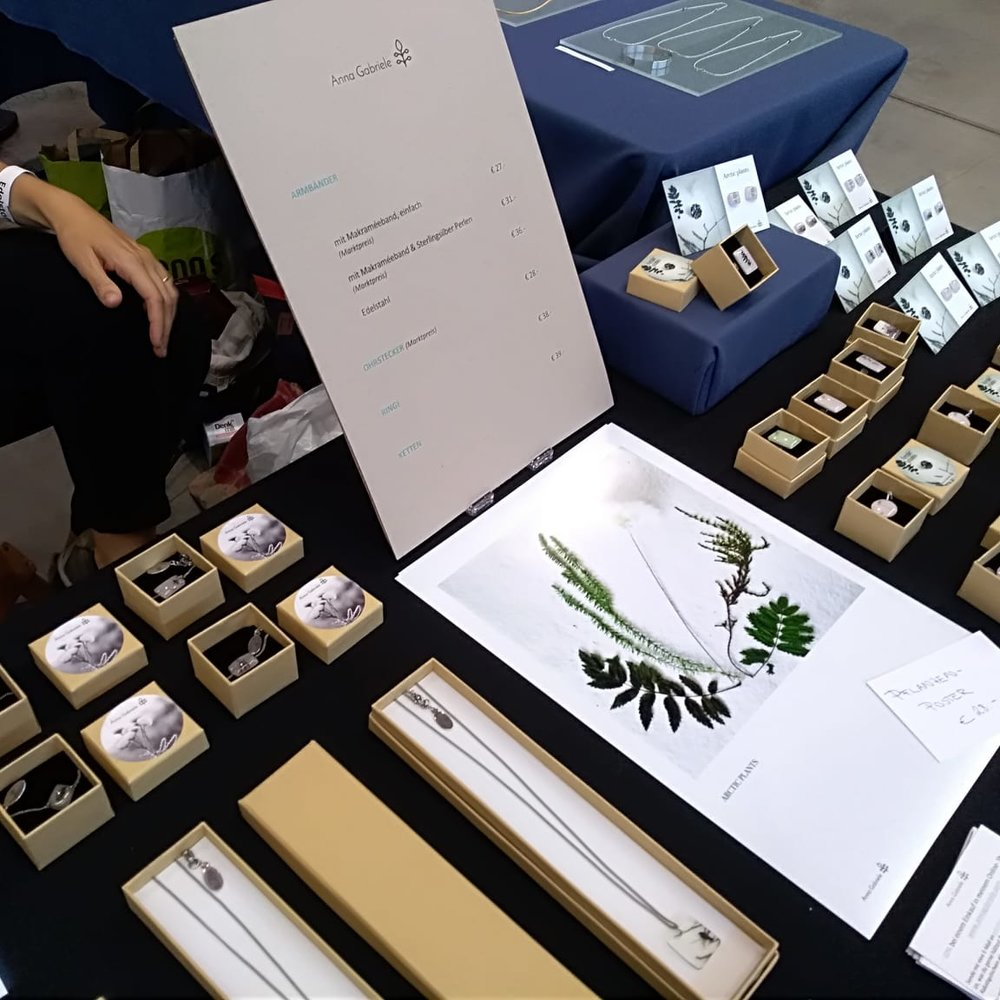 My jewelry at the Designmarkt Edelstoff
