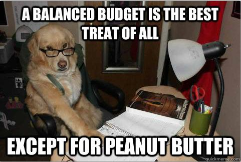 """(Photo: not sure, I Googled """"budget memes"""" and this came up...)"""
