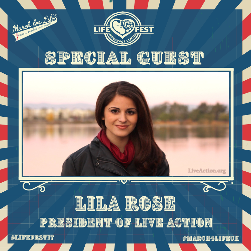 Lila Rose is the founder and president of Live Action, a human rights organization dedicated to ending abortion and inspiring a culture that respects and protects life.  Lila founded Live Action when she was 15 years old. Live Action is a nonprofit working to spread the truth about abortion and counter the deliberate misinformation campaign of the multi-billion dollar abortion industry and lobby.  The organization changes hearts and minds about abortion and promotes respect for human dignity through national media campaigns, investigative reporting, and targeted youth education programs.
