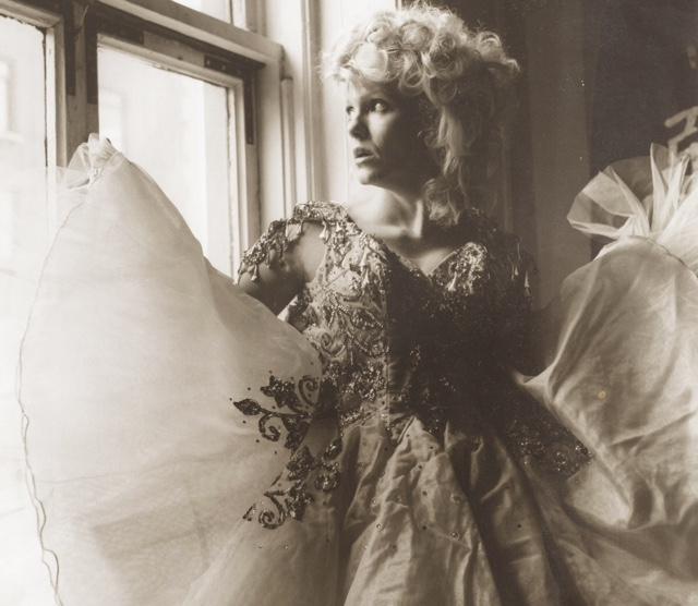 Tammy looking glamorous, 1984.