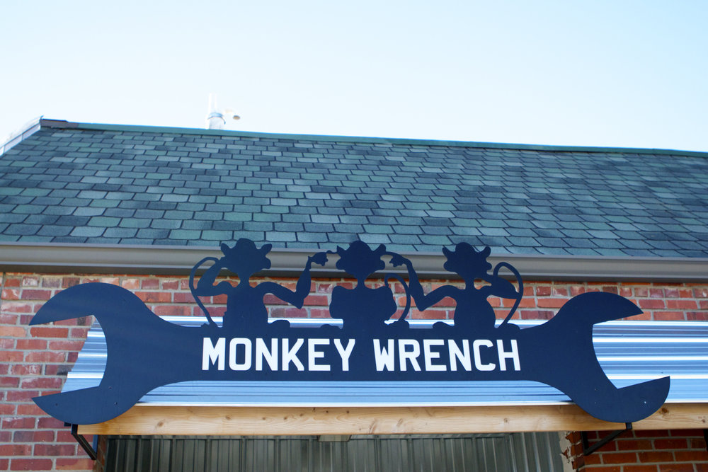 Monkey Wrench Sign