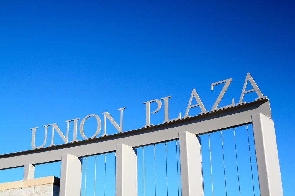 Union Plaza Lettering