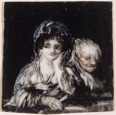 Federico de Goya, Maja and Celestina. Private Collection.