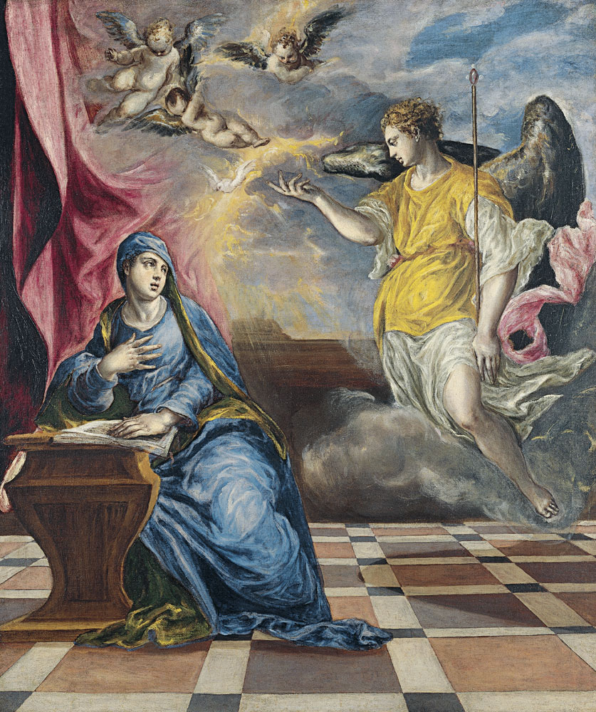 El Greco, The Annunciation. The Thyssen-Bornemisza Museum of Art.