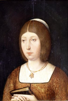 15th Century, Portrait of Isabella the Catholic. Museo del Prado.