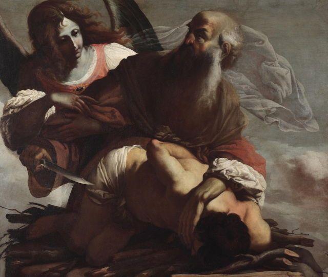 """Luigi Miradori, """"Il Genovesino"""" – Sacrifice of Isaac"""