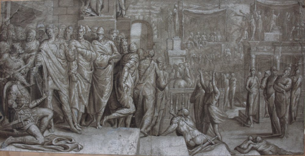 Pedro de Campaña – Flavius Josephus and the Emperor Vespasian