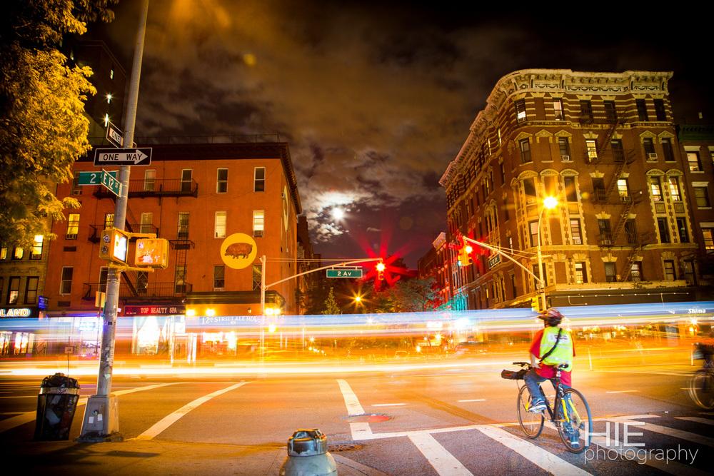 Nighttime in New York City