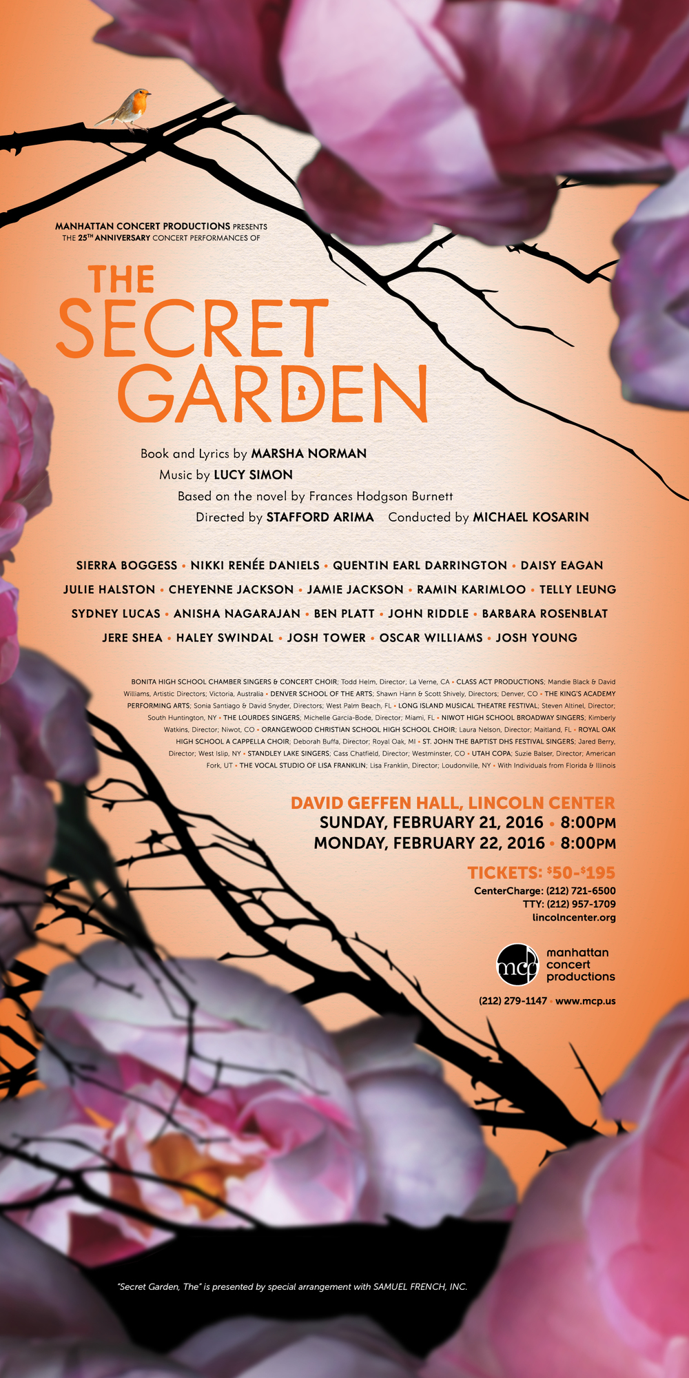 February 21-22, 2016 - David Geffen Hall - NYC