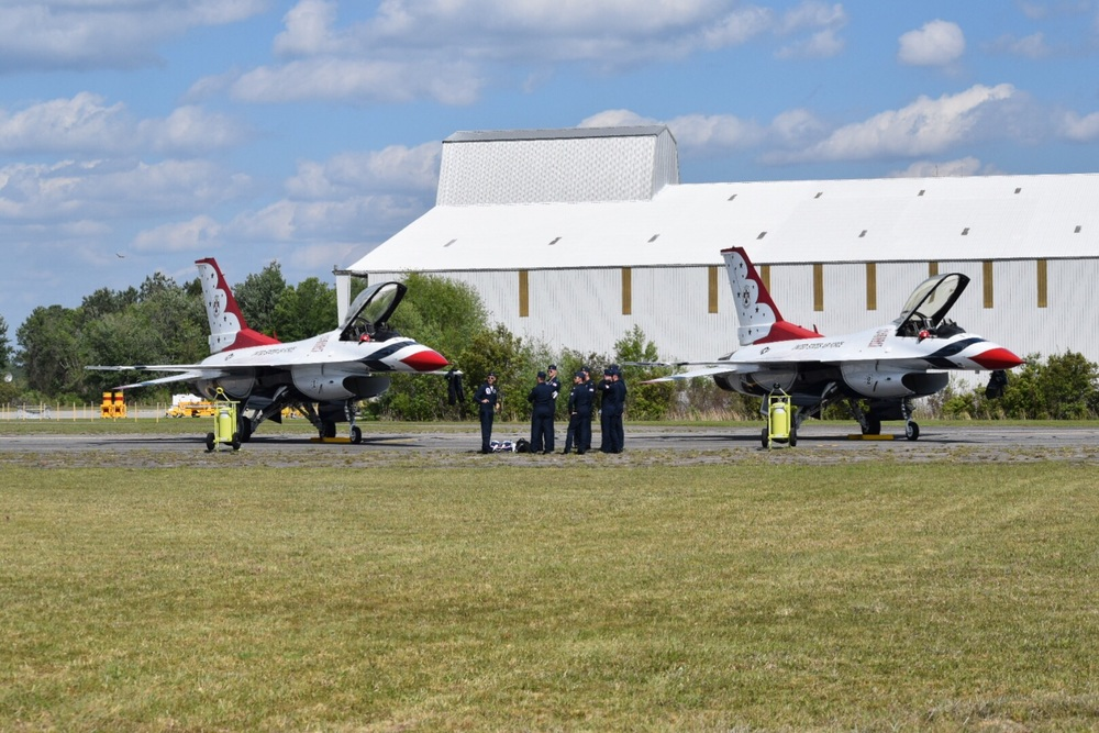 Thunderbirds 1-6 debrief following a successful cross-country trip to Lake City, Florida.