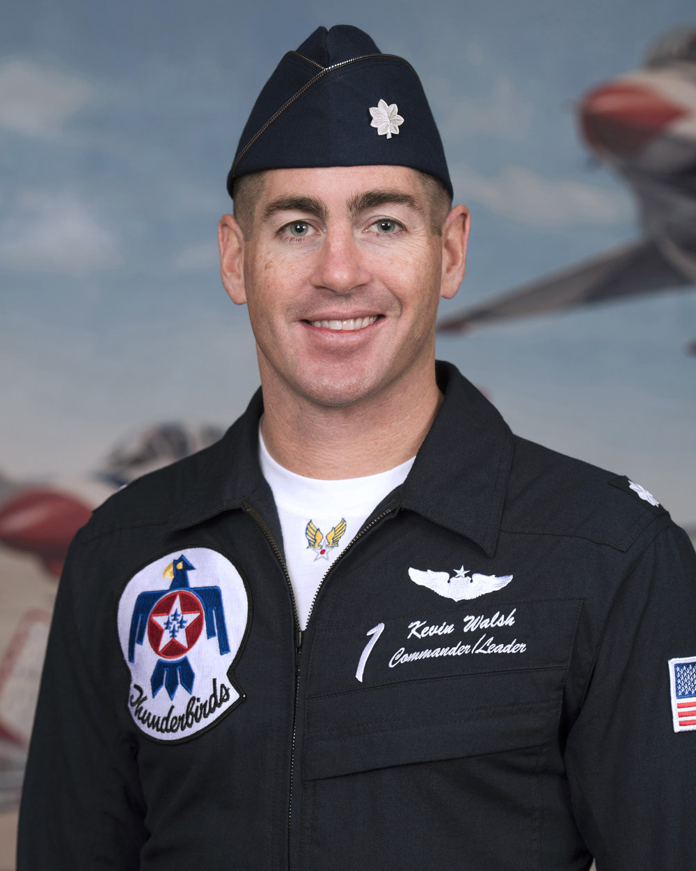 Lt. Col. Kevin Walsh, will serve as commander of the Thunderbirds in 2018.