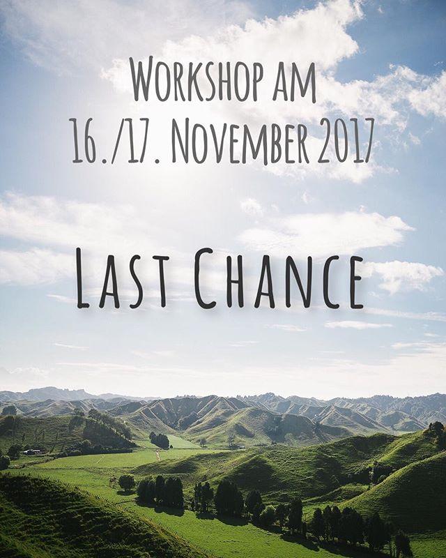 Für unseren letzten Workshop dieses Jahr haben wir noch einen Platz zu vergeben! Letzte Chance ! Danach werden wir unser Konzept umstricken und erweitern - PWYW wird es dann nicht mehr geben! #bequick
